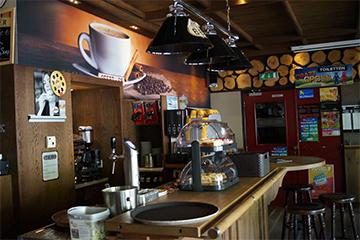 Koffiebar in het café