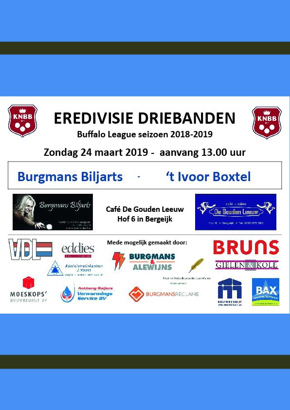 Eredivisie Driebanden april 2019